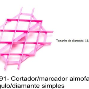 J 791- Cortador/marcador (tipo espatula)  almofadados losango/diamante simples