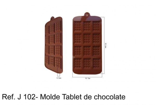 J 102- Molde tabletes barras chocolate, quadrados, mini