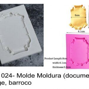 J 1024- Molde Moldura (documento) vintage, barroco