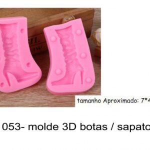 J 1053- molde 3D botas / sapato salto alto