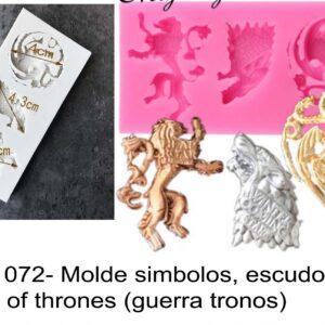 J 1072- Molde simbolos, escudos game of thrones (guerra tronos)