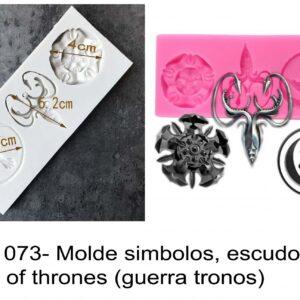 J 1073- Molde simbolos, escudos game of thrones (guerra tronos)