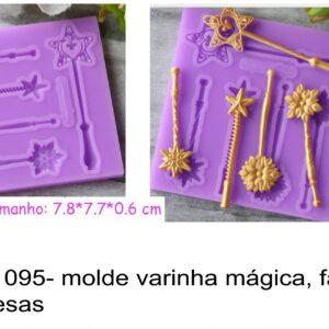 J 1095- molde varinha mágica, fadas, princesas chaves cadeados  fechaduras