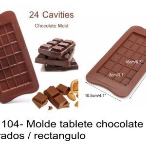 J 1104- Molde tabletes barras chocolate quadrados / rectangulo