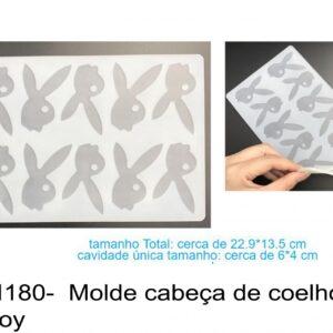 J 1180-  Molde cabeças de coelho da playboy