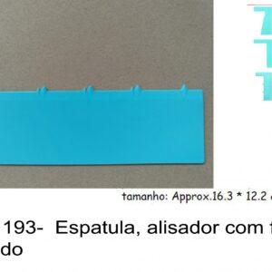 J 1193-  Espatula, alisador com feitio dentado