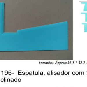 J 1195-  Espatula, alisador com feitio liso inclinado