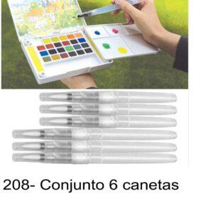 J 1208- Conjunto 6 canetas recarregaveis para pintura