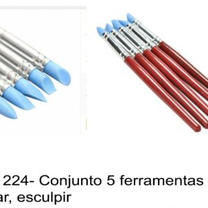J 1224- Conjunto 5 ferramentas para moldar, esculpir