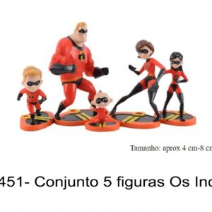 J 1451- Conjunto 5 figuras Os Incriveis incredibles