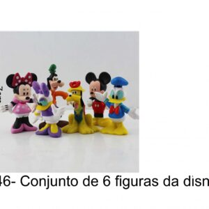 J 146- Figuras 6 Disney (mickey, minnie, donald, pluto, pateta, margarida)