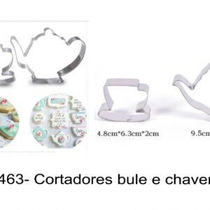J 1463- Cortadores bule e chavena, chá