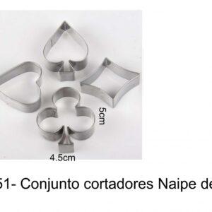 J 151-  Cortador Naipe Cartas poker copas espadas paus diamantes