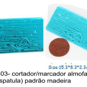 J 1803- cortador/marcador almofadado (tipo espatula) padrão madeira