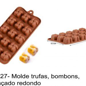 J 1827- Molde trufas, bombons, entrelaçado redondo
