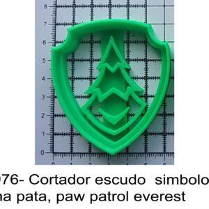 J 1976- Cortador escudo  simbolo  patrulha pata, paw patrol everest