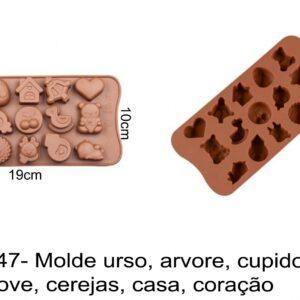J 2147- Molde urso, arvore, cupido, amor, love, cerejas, casa, coração