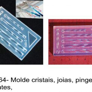 J 2164- Molde cristais, joias, pingentes, pendentes,  medalhas cristal