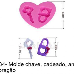 J 2184- Molde chave, cadeado, amor, love, coração fechadura