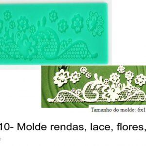 J 2310- Molde rendas, lace, flores, vintage rendas