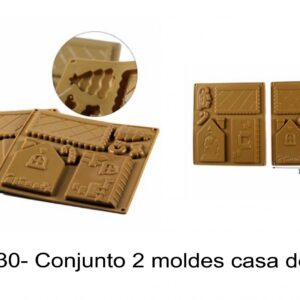 J 2330- Conjunto 2 moldes casa de Natal