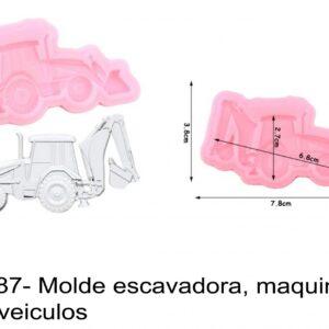 J 2387- Molde escavadora, maquina, obras, veiculos