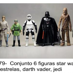 J 2479-  Conjunto 6 figuras star wars, guerra estrelas, darth vader, jedi