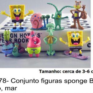 J 2678- Conjunto figuras sponge Bob, oceano, mar