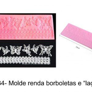 J 34- Molde  Rendas e Borboletas lace