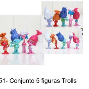 J 351- conjunto 5 figuras Trolls-Disney