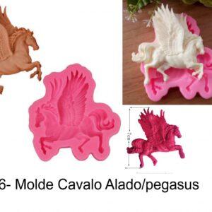 J 456- Molde cavalo alado/pegasus/unicornio
