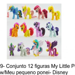 J 569- Conjunto 12 figuras My Little Poney Rainbow/Meu pequeno ponei/unicornios- Disney pony