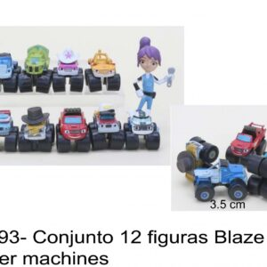 J 593- Conjunto 12 figuras Blaze and monster machines
