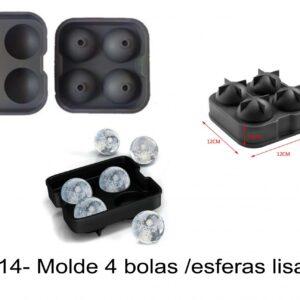 J 714- Molde 4 bolas /esferas lisas