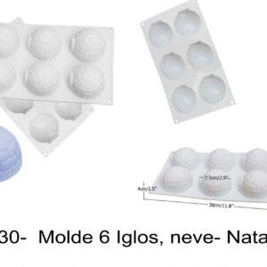 J 730-  Molde 6 Iglos, neve- Natal