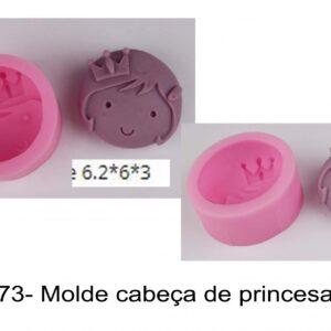J 773- Molde cabeça de princesa, coroa, rainha menina