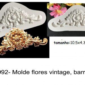 J 992- Molde flores vintage, barroco